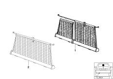Retrofit kit net partition Luggage compartment