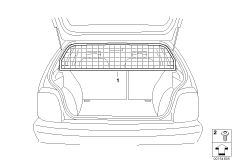 The separation grille Luggage compartment