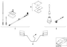 Retrofit kit, teleph. antenna Dualband