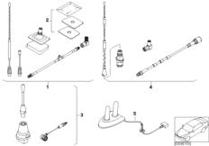 Retrofit kit, teleph. antenna Singleband