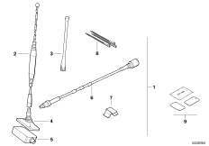 Retrofit kit, window antenna