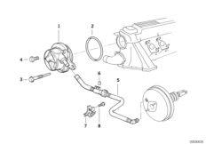 Vacuum pump with tubing