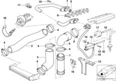 Intake system air blowing / AGR