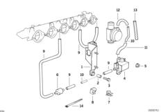 The engine vacuum system.management