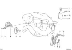 Mounting parts f intake manifold system
