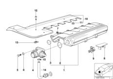 Intake manifold system AGR