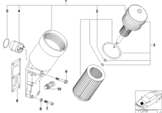 Lubrication system-Oil filter