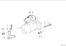 Starter mounting parts