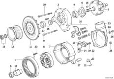 Alternator parts 140a