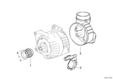 Alternator, individual parts