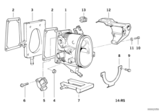 The throttle body/heating element