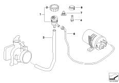The vent valve of fuel tank