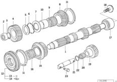 S5D...G countershaft/reverse gear