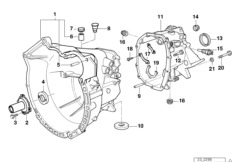 S5D...G crankcase   mounting parts