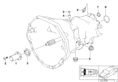 S6S 420G crankcase and additional elements