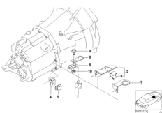 Gearbox parts - oxygen sensor holder