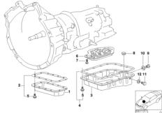 A4S 270R/310R oil pan/oil strainer