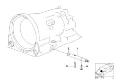 A4S 270R/310R selector rod
