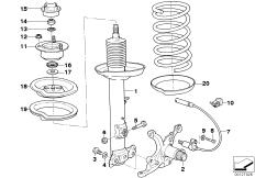 Motorsport chassis spring strut