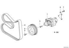 Hydro steering-vane pump/mounting