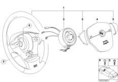 Sports steering wheel airbag
