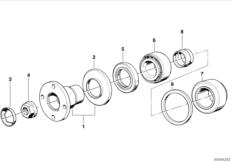 Drive flange suspension/gasket ring