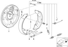 Drum brake-brake shoes/brake carrier