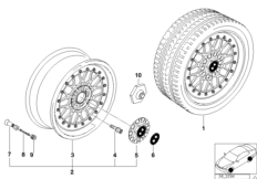 M cross-spoke, threaded (styl.29)