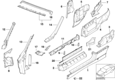 Single components for body-side frame