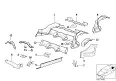 Rear floor parts