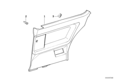Door trim panel, rear
