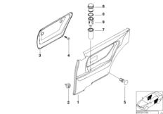 Door trim panel, rear