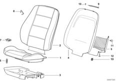 Front seat pan/pad