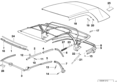 Convertible top, addition parts