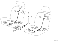 Wiring electr. seat adjustment front