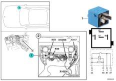 Relay for door lock heater K54