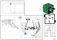 Relay, rgt. park.lght/lic.plate lamp K25