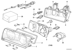 Single components for headlight ZKW