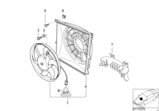 Suction fan and mounting parts