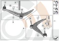 Service kit control arm / Value Line