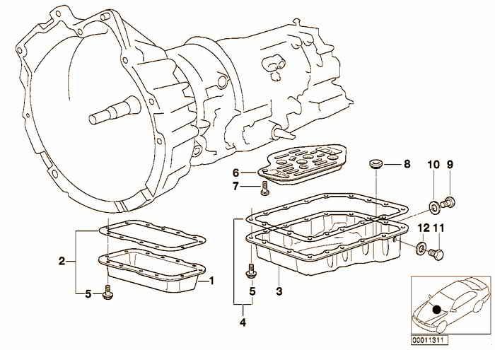 A4S 270R/310R oil pan/oil strainer BMW 318is M44 E36 Coupe, USA