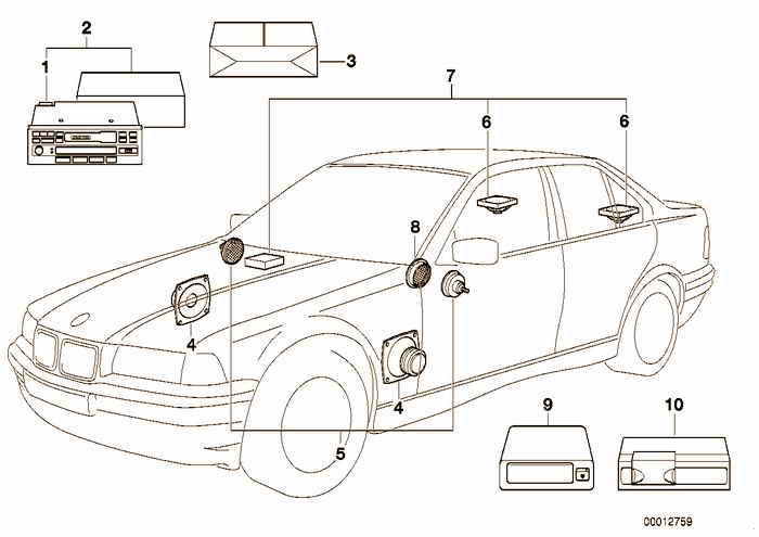 Audio-system with cd-changer BMW 316i M43 E36 Sedan, Europe