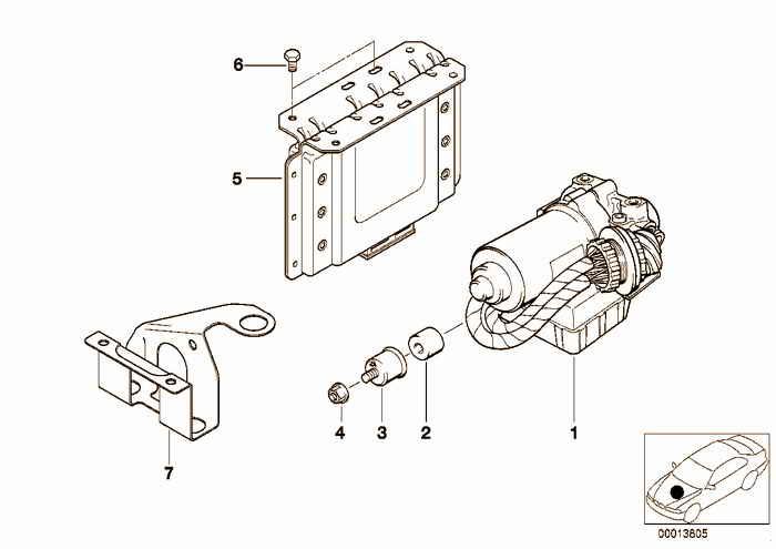 ABS hydro unit/control unit/support BMW 316i M43 E36 Sedan, Europe