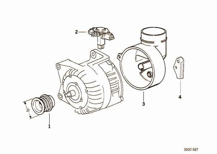 Alternator, individual parts 80A BMW 323i M52 E36 Sedan, Europe