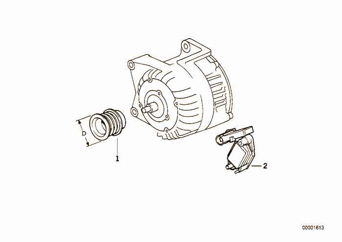 Alternator, individual parts 80A BMW 318i M43 E36 Convertible, Europe