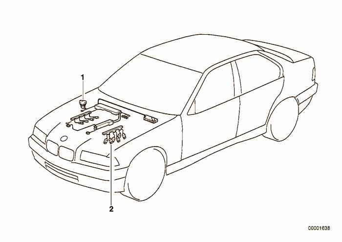 engine wiring harness bmw e36 328i m52  sedan  europe