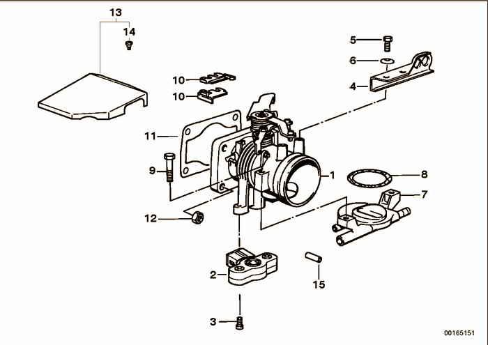 Throttle Housing Assy BMW 318i M40 E36 Sedan, Europe