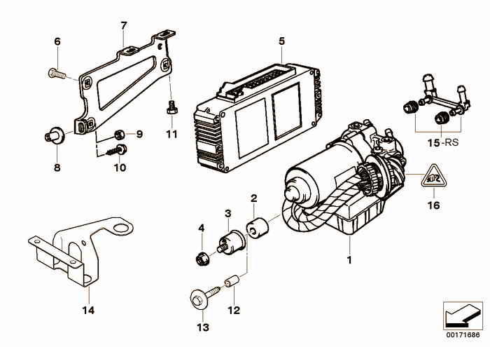 Hydro unit ABS/ASC/control unit/support BMW 325i M50 E36 Convertible, USA