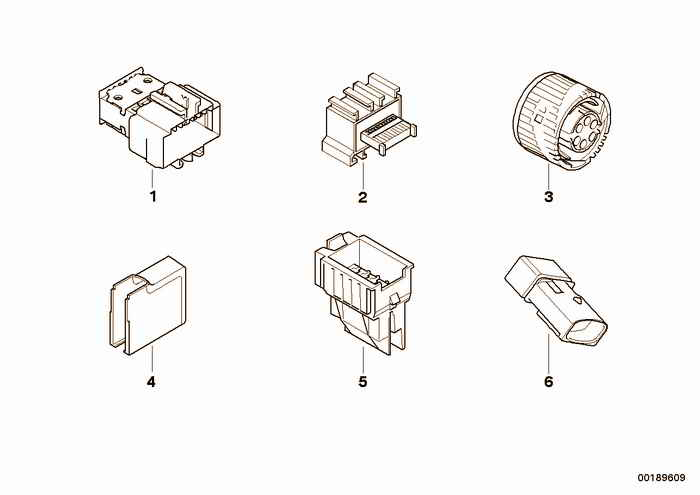 Miscellaneous plugs and connectors BMW 318i M43 E36 Convertible, Europe