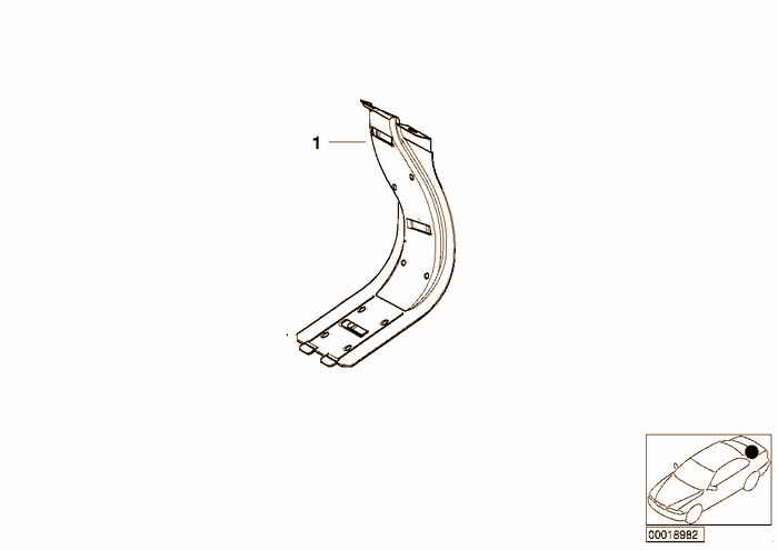 Cable covering BMW 318i M43 E36 Convertible, Europe